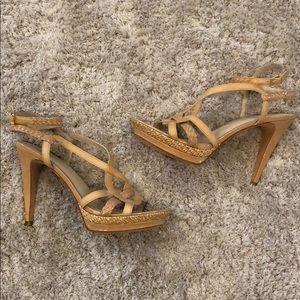 Joan & David Dakenyon Leather Platform Heels NWT